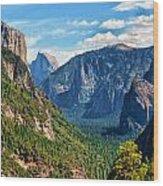 Yosemite Valley Overlook Wood Print