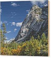 Yosemite Valley Rocks Wood Print