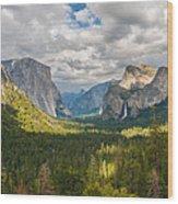 Yosemite Valley Wood Print by Sarit Sotangkur