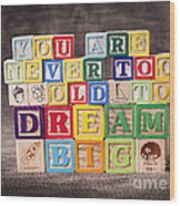 You Are Never Too Old To Dream Big Wood Print