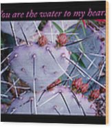 You Are The Water For My Heart 7 Wood Print