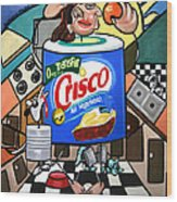 You Can't Pick Your Own Can Wood Print by Anthony Falbo