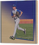 Young Baseball Athlete Wood Print
