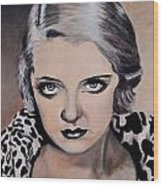 Young Bette Davis Wood Print by Shirl Theis
