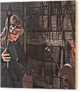 Young Blacksmith Girl Art Prints Wood Print