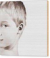 Young Boy Wood Print