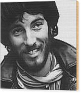 Young Bruce Springsteen Wood Print