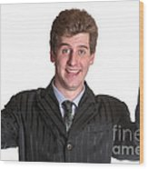 Young Business Man  Wood Print