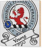 Young Clan Badge Wood Print