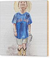 Young Cowboy  Wood Print