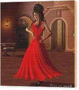 Young Flamenco Dancer Wood Print