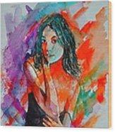 Young Girl 52622 Wood Print
