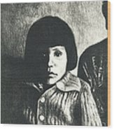 Young Girl Original Wood Print