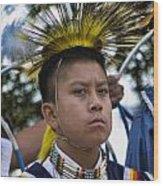 Young Hopi Wood Print