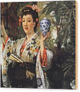 Young Japanese Lady Wood Print