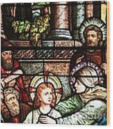 Young Jesus In The Temple Wood Print