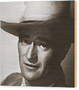 Young John Wayne Painting Traditional Wood Print