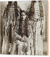 Young Kiowa Belles 1898 Wood Print