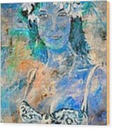young lady in Papeete Wood Print