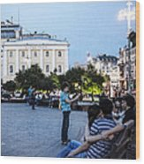 Young Lovers And Other Strangers - Moscow- Russia Wood Print