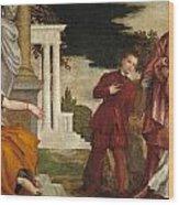 Young Man Between Vice And Virtue Wood Print