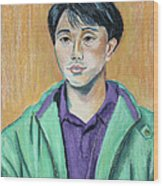 Young Man In A Green Jacket Wood Print