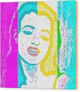 Young Marilyn Soft Pastels Impression Wood Print