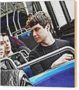 Young Men On The M4 Bus Wood Print
