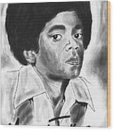 Young Michael Jackson Wood Print