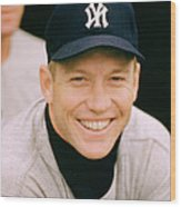 Mickey Mantle Smile Wood Print by Retro Images Archive