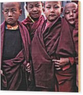 Young Monks II Wood Print