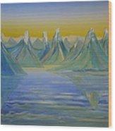 Young Mountains In Lofoten. Wood Print
