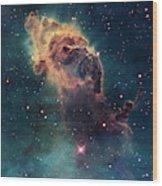 Young Stars Flare In The Carina Nebula Wood Print