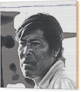 Young Yaqui Man New Pascua Arizona 1969 Wood Print