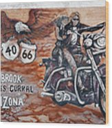 Young's Corral In Holbrook Az On Route 66 - The Mother Road Wood Print