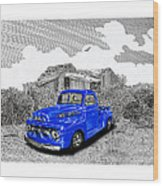 Your 1952 F 100 Pick Up In N M  Wood Print