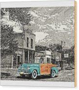 1946 Ford Sports Man Convertible  In Hillsboro N M  Wood Print