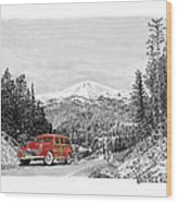 1946 Ford Special Deluxe Woody On Apache Summit Wood Print