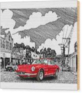 Your Ferrari In Tularosa N M  Wood Print