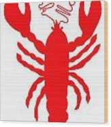 York Maine Lobster With Feelers Wood Print