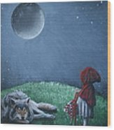 Youre Just A Big Bad Wolf. Wood Print