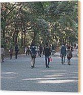 Yoyogi Park Wood Print