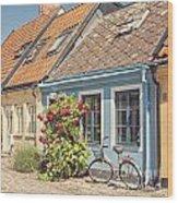 Ystad Cottages Wood Print