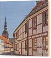 Ystad Crescent Street Wood Print