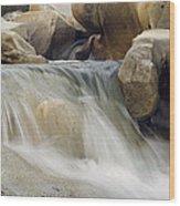 Yuba River Granite Wood Print