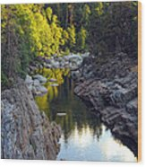 Yuba River Twilight Wood Print