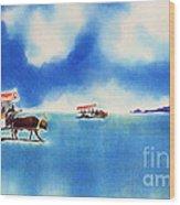 Yubu Island-water Buffalo Taxi  Wood Print