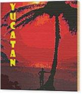 Yucatan Caribbean Wood Print