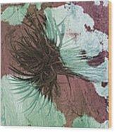 Yucca Abstract Sage And Mauve Wood Print