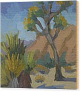 Yucca And Joshua Wood Print